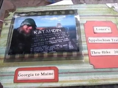Appalachian Trail Loner Scrapbook Mini Photo Album My Mom made