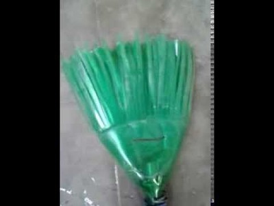 Broom Stick - Home made from pet bottle- Bottle craft-recycle