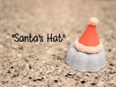 Cold Porcelain. Polymer Clay Tutorial Santa Hat