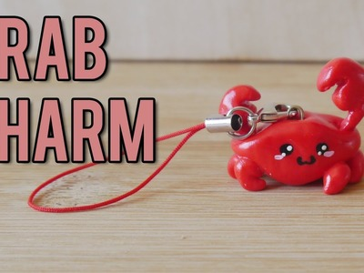 ★ Cute Crab Charm  (Polymer Clay Tutorial) ★