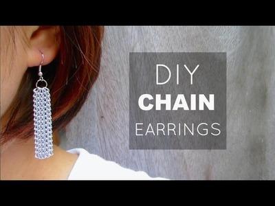 DIY Chain Fringe Earrings