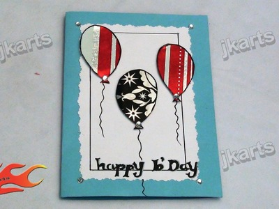 DIY How to make Birthday Greeting Card - JK Arts 152