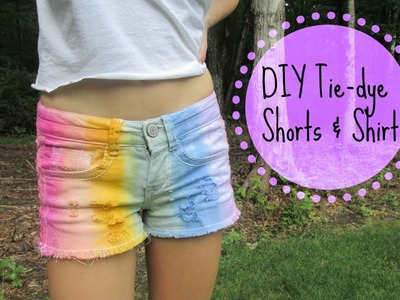DIY Tie-Dye Shorts+Shirt for Summer!
