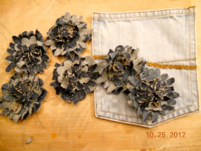 Fabric flowers using sizzix flower layer #3