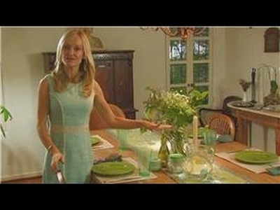 Gorgeously Green: Home : How to create a green dinner party table setting