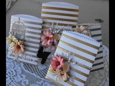 Greeting cards using Journaling Pockets and Angel Craft Tape