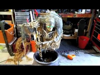 Halloween Cauldron Creep repairs and office decorations