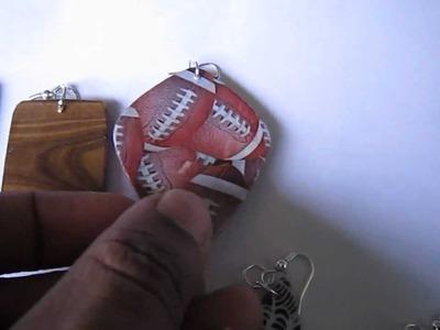 Handmade Jewelry - Paper Card Earrings (2)