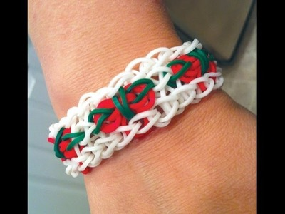 Holly Berry Rainbow Loom bracelet