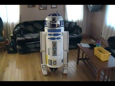 Home made Star Wars costumes R2D2