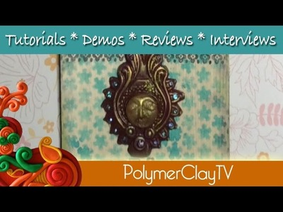 How to make a pretty Bollywood Style wall plaque with polymer clay