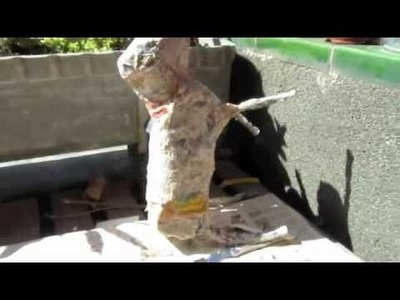 How to make paper mache art, recycling.
