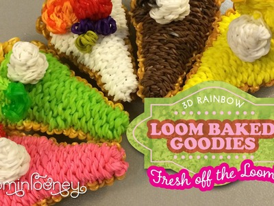 Loom Pie Slices: 3D Rainbow Loom Baked Goodies
