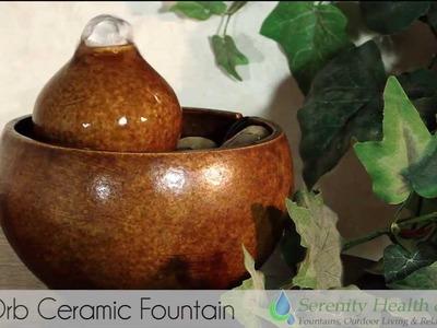 Mini Orb Ceramic Desktop Fountain by Serenity Health - #MINIORB
