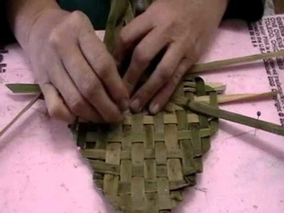 Nancy Today: Plaiting Cattail bookmark (cattail workshop 27) ASMR weaving (basket making tutorial)