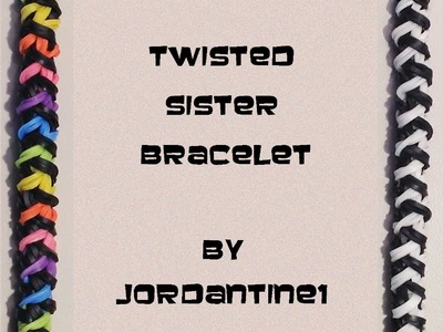 New Twisted Sister Bracelet - Rainbow Loom. Monster Tail. Finger Loom