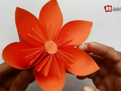 Origami Paper Folding Instructions | Kusudama Flower | Work #01