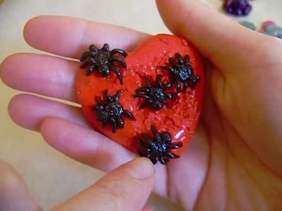 Polymer Clay Spider Heart.Shark.Octopus