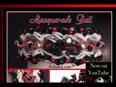 Rainbow Loom Band Masquerade Ball Tutorial.How To