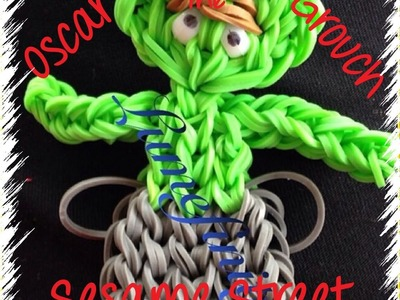 Rainbow Loom bands Oscar the Grouch - Sesame street figure by Lumefinity - How to