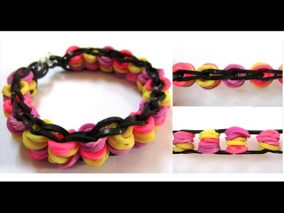 Rainbow Loom Bike Chain Bracelet on Mini Loom