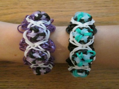 Rainbow Loom- How to make a Mod Pod Bracelet (Original Design)