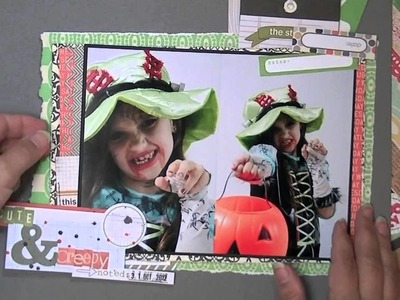 Scrapbooking Process: cute and creepy