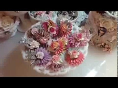 Sizzix Paper Rosettes with WOC Flowers  DT project