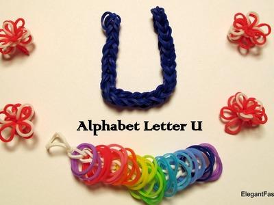 Alphabet Letter U Charm on Rainbow Loom