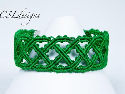 Celtic inspired macrame bracelet   St. Patrick's Day