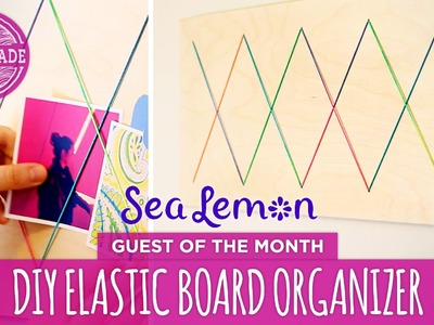 DIY Elastic Board Organizer with Sea Lemon - HGTV Handmade