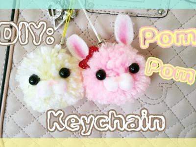 DIY: Pom Pom Keychains ♡ Berrywhimsy