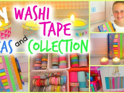 DIY Washi Tape Projects EASY  ♥ Collection and Storage ♥ Room Decor