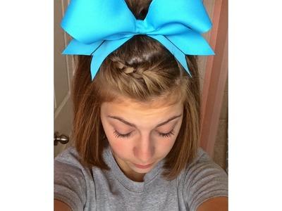 Easy cheer hair tutorial