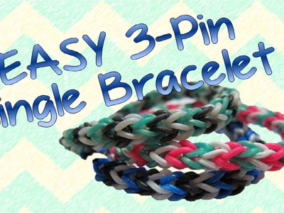 EASY Three-Pin Single [TriSingle] Rainbow Loom Bracelet Tutorial