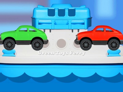 Green Toys Ferry Boat Teaching Colors - Learning Basic Colours Video for Children