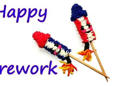 Happy Firework Tutorial by feelinspiffy (Rainbow Loom)
