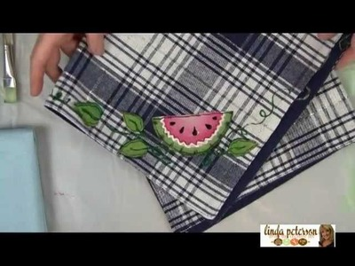 How to Make a Fabric Watermelon Applique to Embellish a Placemat by Linda Peterson