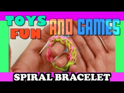 How to Make a Rainbow Loom Bracelet Easy But Cool Tutorial - Spiral for Beginners
