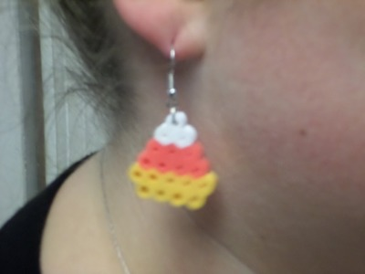 HOW TO PERLER BEAD CANDY CORN EARRINGS