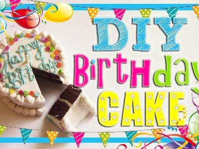 Miniature Polymer Clay Birthday Cake Tutorial!