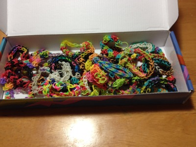 My awesome rainbow loom bracelets christmas!!