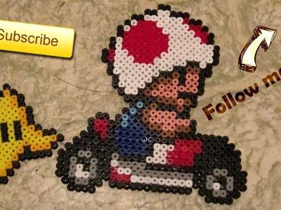 PERLER BEAD: Mario Kart - Toad & Banana Peel! (Giveaway #35)