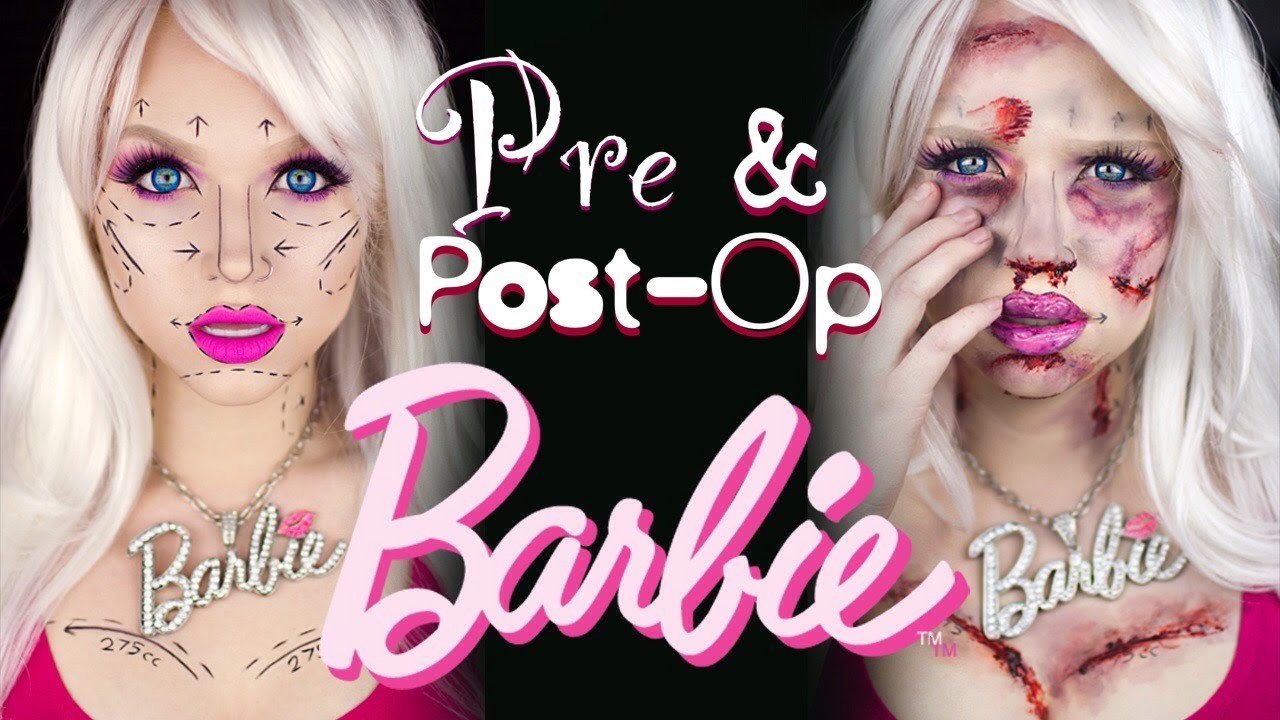 Pre and Post-Op Plastic Surgery Barbie - Special FX Makeup Tutorial