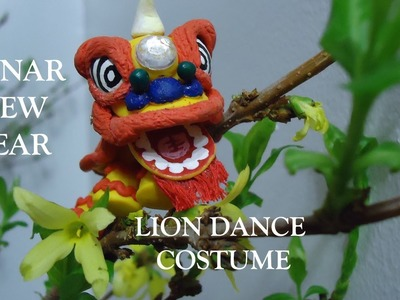 Show and Tell: Polymer Clay Lion Dance Costume (Lunar New Year)