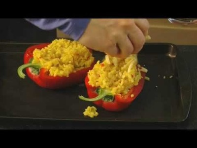 Stuffed Peppers with Savoury Rice Recipe - Great Little Ideas