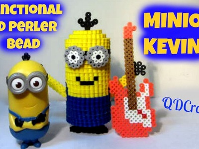 3D Perler Bead MINION Kevin Piggy Bank.Storage (FULL TUTORIAL)