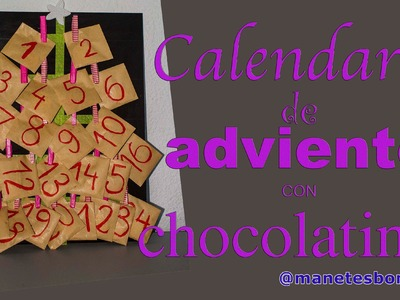 Calendario de Adviento | Sobres y chocolatinas | Tutorial DIY