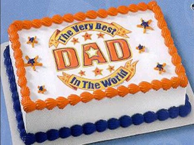 Creative Fathers day cake decorations