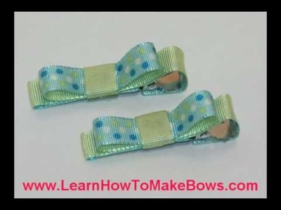 Easy Hair Bows for Infants and Little Girls on Alligator Clips